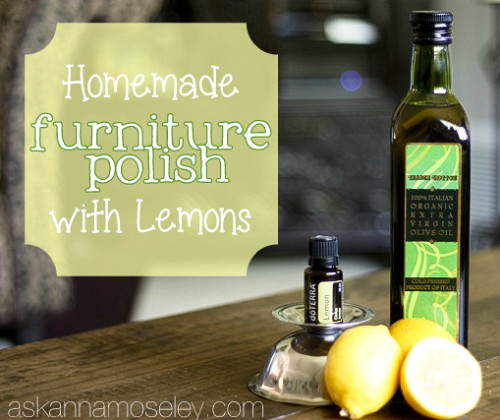 Homemade furniture polish with lemons