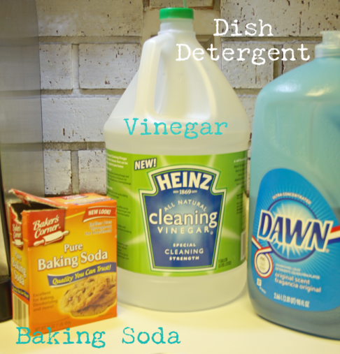 The ingredients of DIY scrubbing cleanser