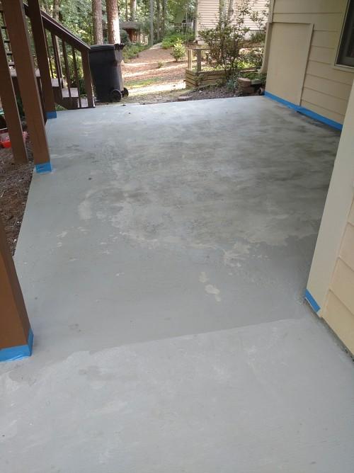 Peeling concrete paint