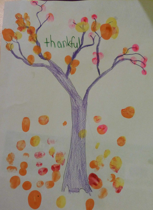 This is our vision of the Thankful Thumbprint Tree.