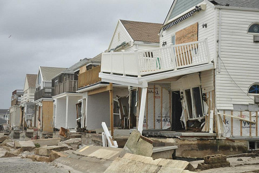 Belle Harbor in Far Rockaway, Queens, after Hurricane Sandy. Photo by Vern Leon and Simon Oz Ben Natan.