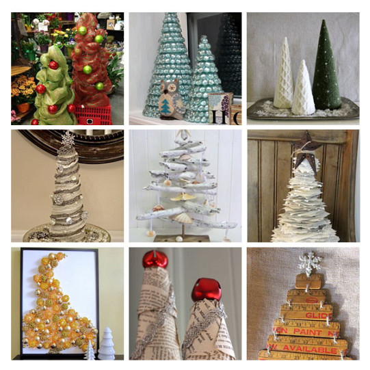 Diy christmas trees from recycled materials networx for Diy from recycled materials