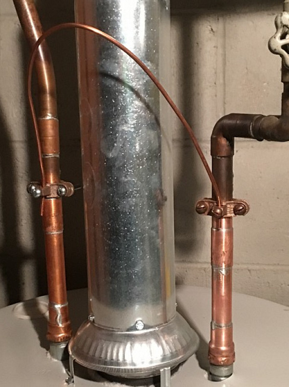 Newly connected water heater