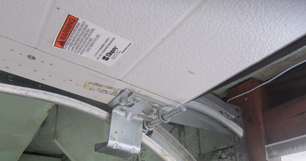 New garage door opener close up