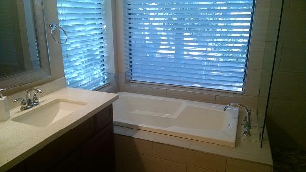 Sleek, modern bathroom remodel