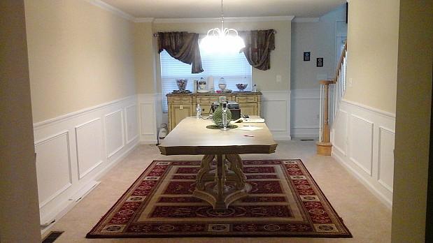 Beautiful dining room wall treatment