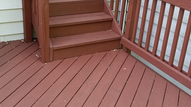 Refinished deck and stairs