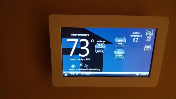 New HVAC system thermostat