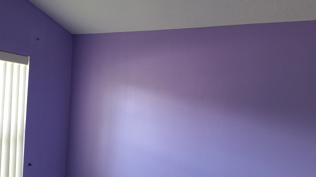 Bedroom painting - lilac