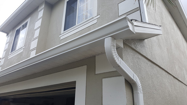 Downspout and gutter installation