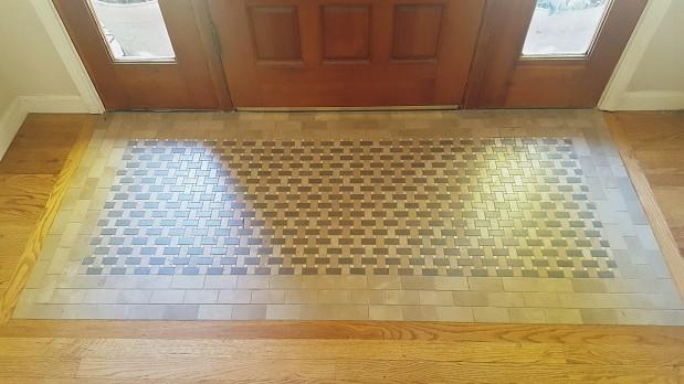 Entrance mosaic tile work