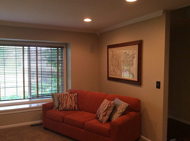 Baseboard painting was included