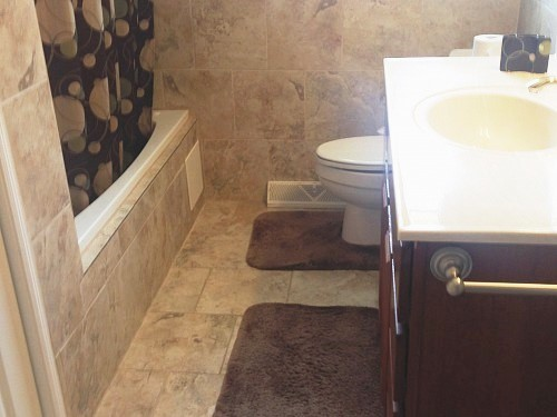 New toilet & vanity upstairs