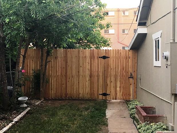 New cedar fence adjacent to my house