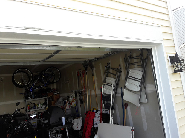 Garage door frame repair