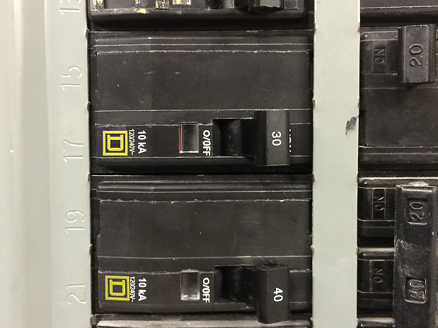 Electric panel with new circuit breakers