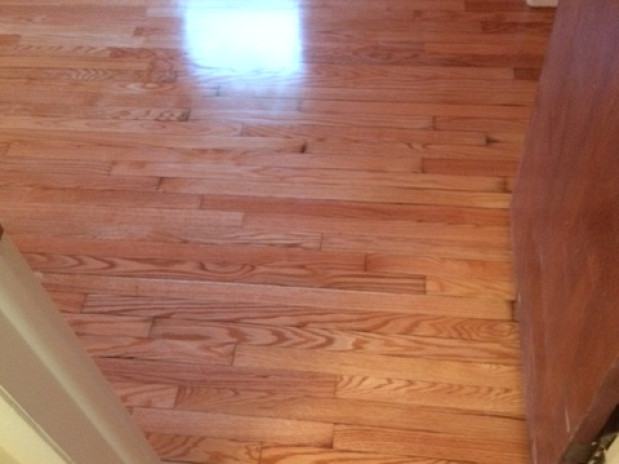 AFTER Gleaming hardwood flooring