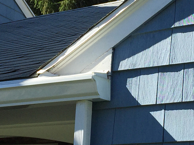 New gutters and downspout