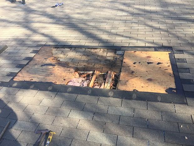 BEFORE Roof repair urgently needed