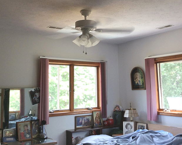 New ceiling fan cooling our home
