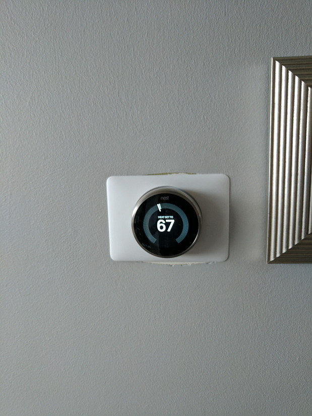 Nest thermostat closeup
