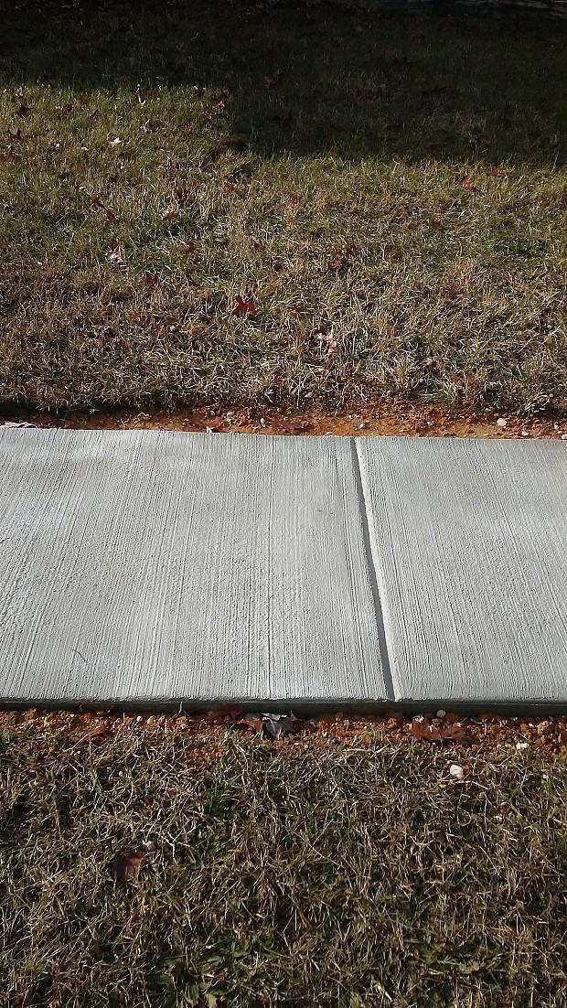 Concrete walkway installation
