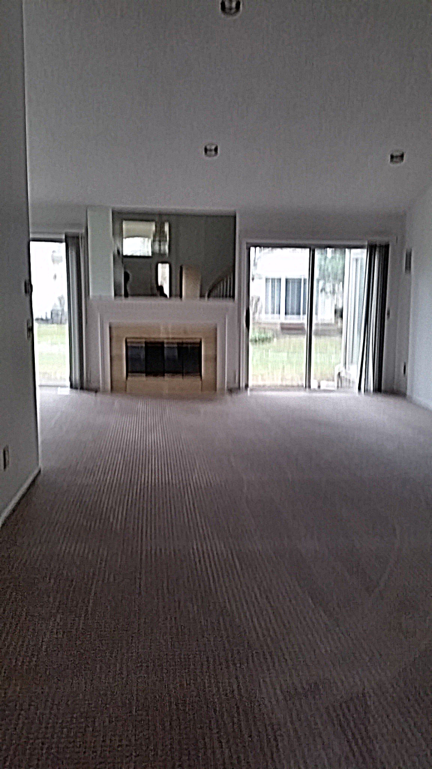 Freshly carpeted living room