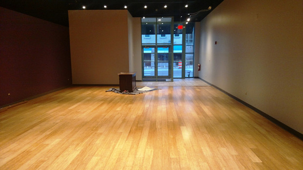 AFTER Freshly painted dance studio
