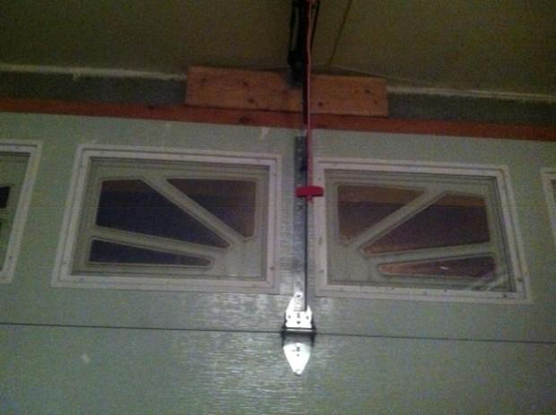 BEFORE Garage door was bending