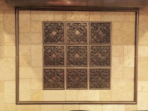 Closeup of the beautiful tile insert