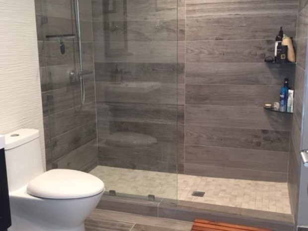 Overview of guest bathroom remodel