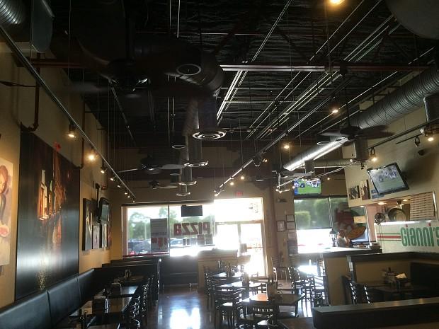 Restaurant ceiling fan installation