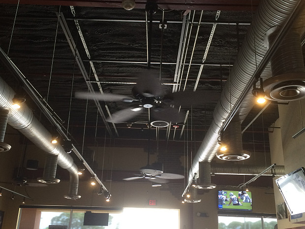 Ceiling fans boost A/C cooling power