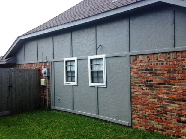 Beautiful gray exterior paint
