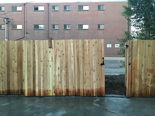 Cedar fence installation
