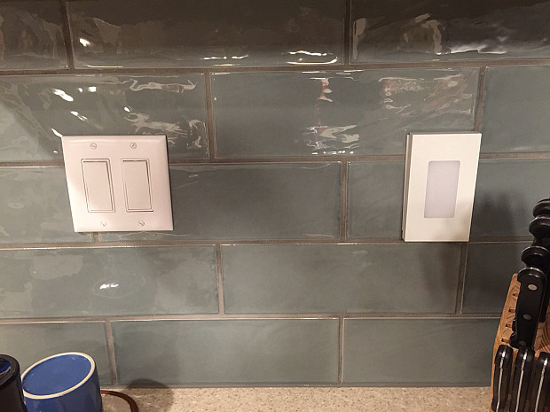 Neat tiling around switchplates
