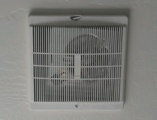 New vent fan in place