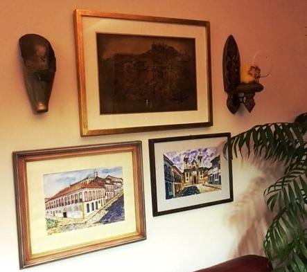 Handymen hung wall art