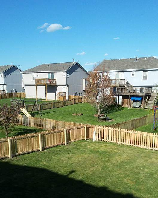 New cedar fence install