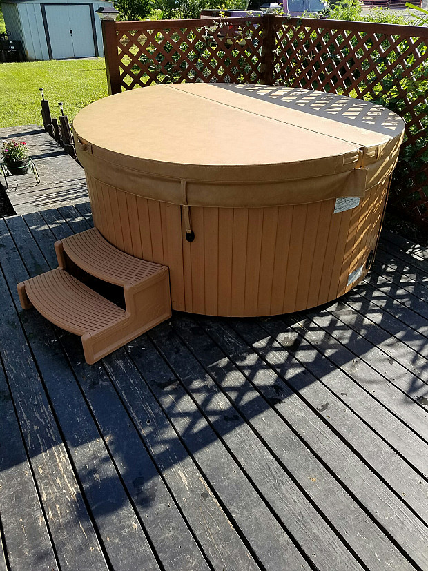 Newly wired hot tub