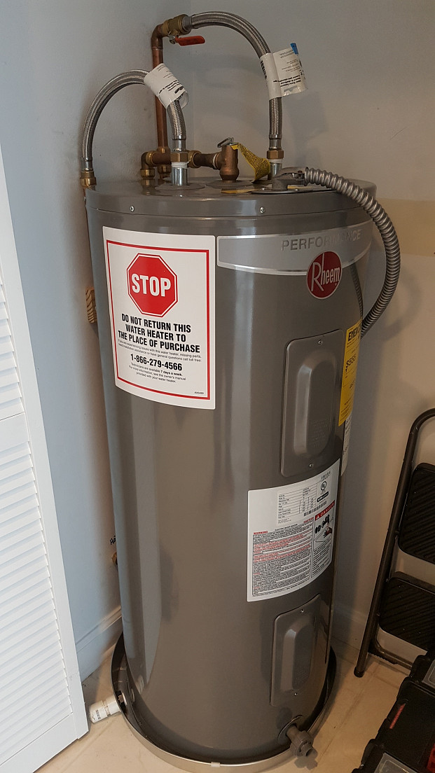 Replacement water heater