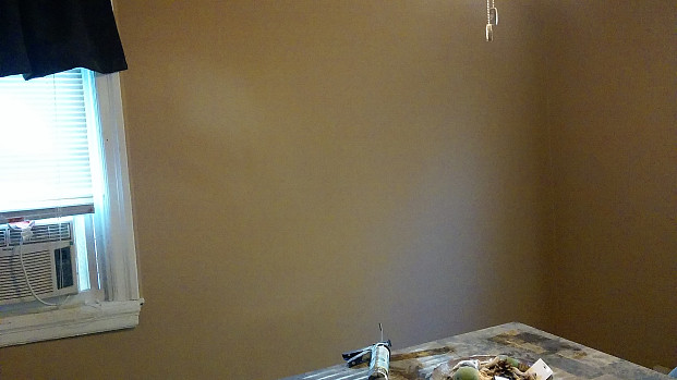 Smooth clean sheetrock wall