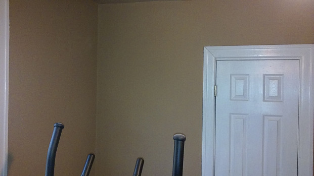 Another view of the sheetrock wall