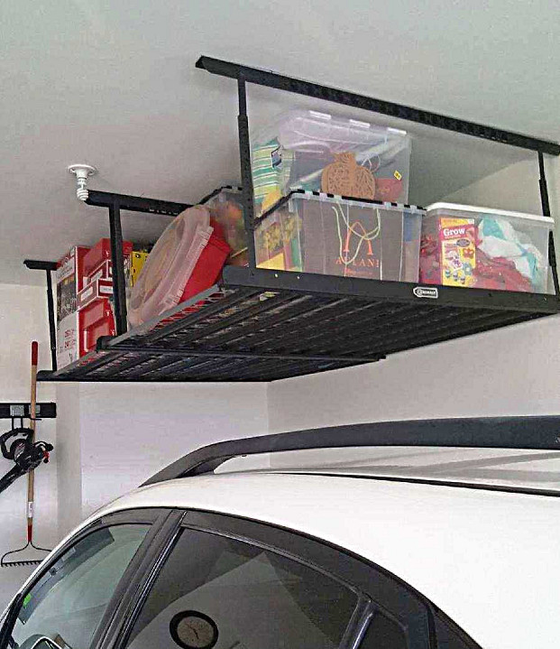 Handyman installed garage storage