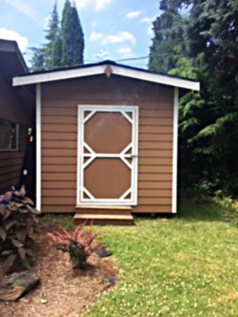 Custom built storage shed