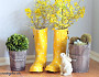 Rain boot vases by Ann@On Sutton Place via Hometalk.com.