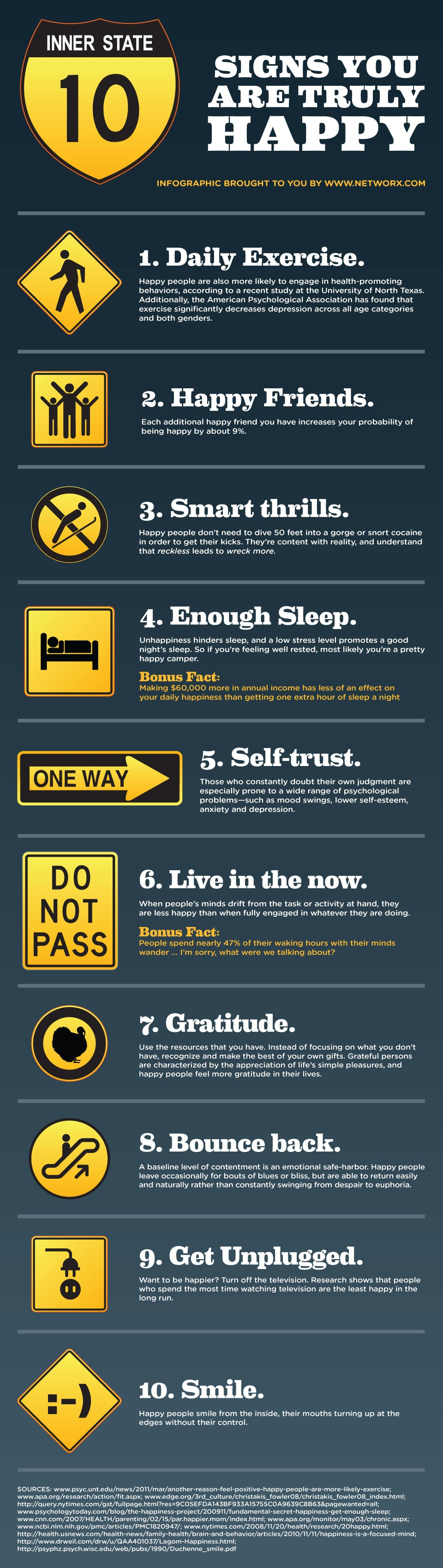 10 Signs of True Happiness - Networx