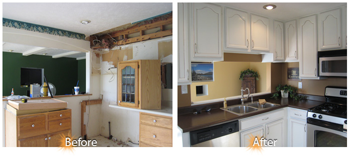 Remodeling Ideas Before And After kitchen remodel ideas before and after. u shaped kitchen remodel