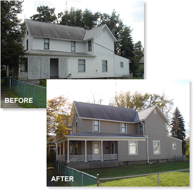 Superior hi tech painting networx for Exterior house paint before and after