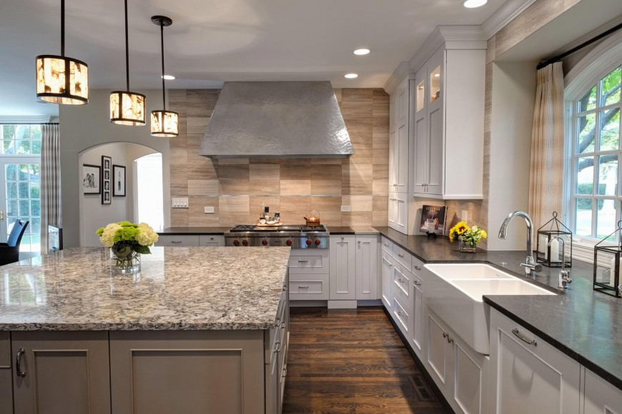 delighful stone kitchen backsplash with white cabinets ideas and